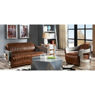 Randle 2 Piece Leather Sofa Set By Williston Forge