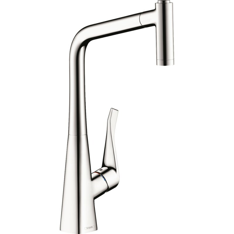 Hansgrohe Metris Pull Out Single Handle Kitchen Faucet Reviews Wayfair