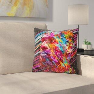 Lebron James Throw Pillow ByEast Urban Home