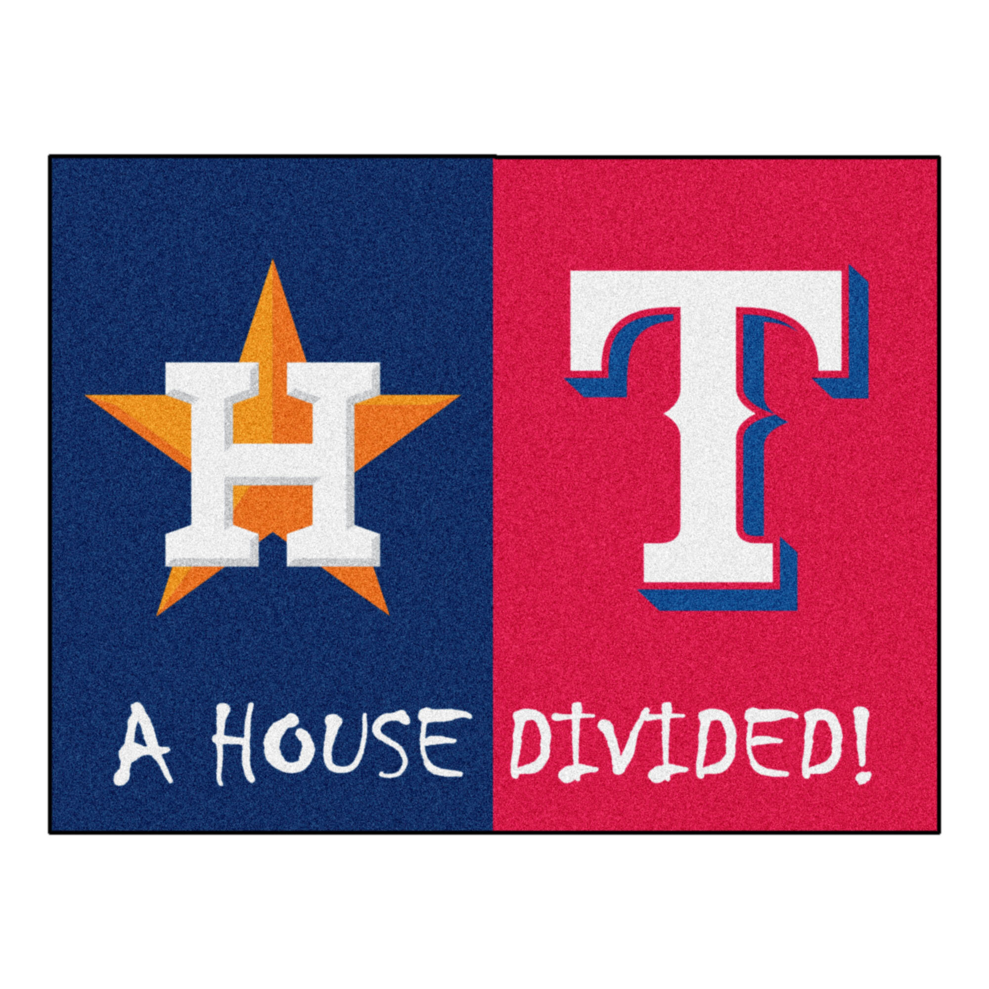 Fanmats Mlb Houston Astros Texas Rangers 33 75 In X 42 5 In Non Slip Indoor Only Door Mat Wayfair