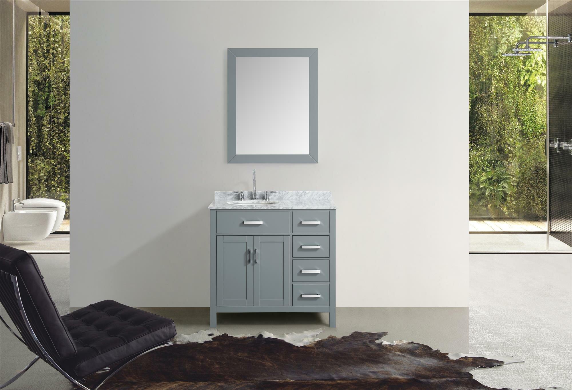 Orren Ellis Weatherford 37 Single Bathroom Vanity Set With Mirror Wayfair