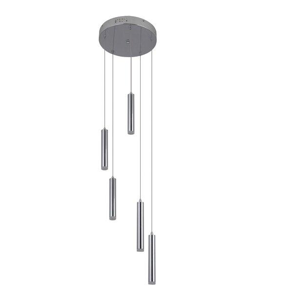 Orren Ellis Marnie 5 Light Cluster Cylinder Led Pendant Wayfair