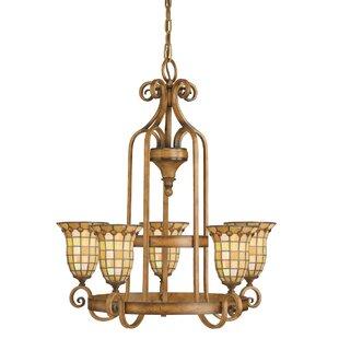 Astoria Grand Manhart 5-Light Shaded Chandelier