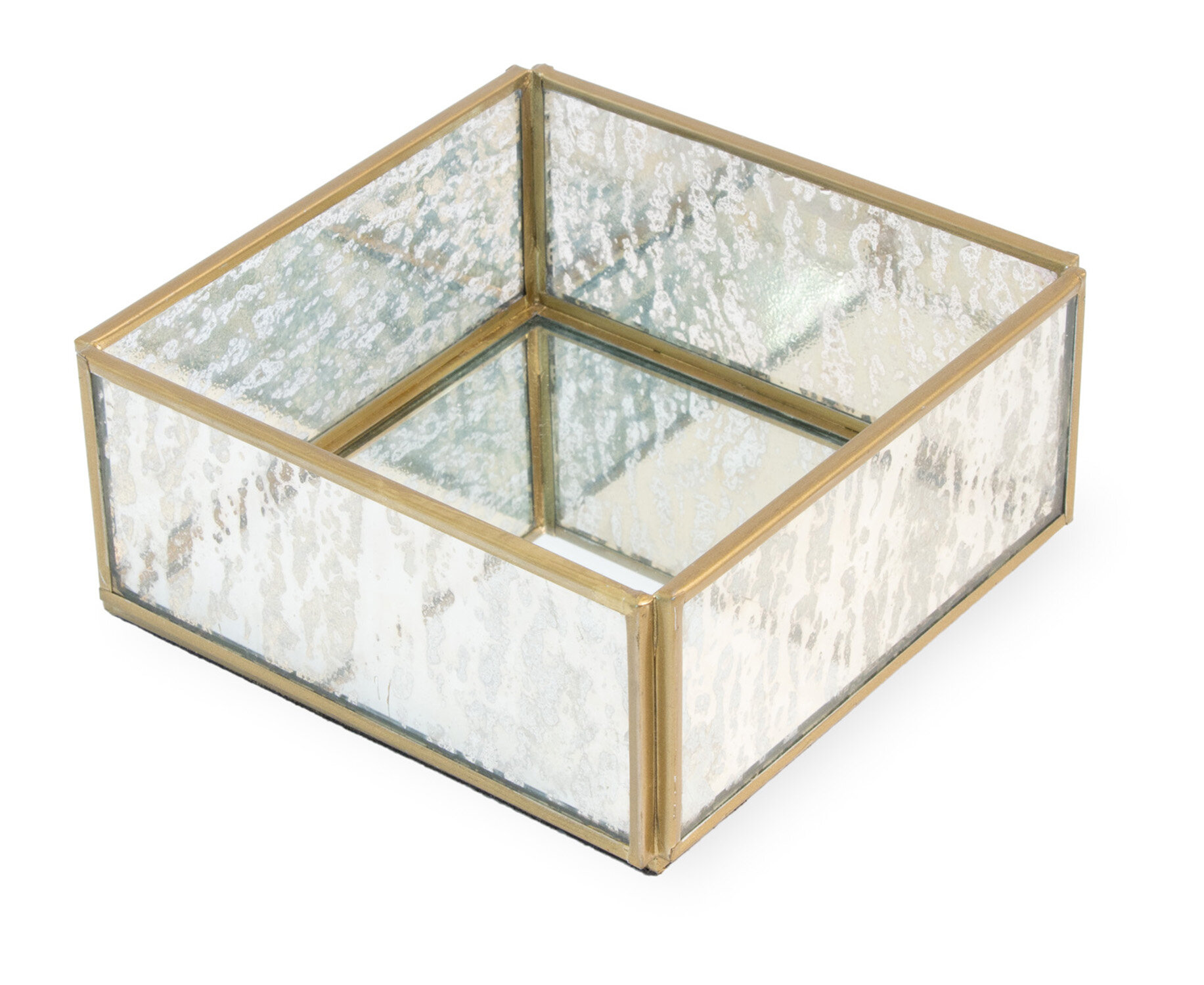 Everly Quinn Mercury Glass Flat Napkin Holder Wayfair