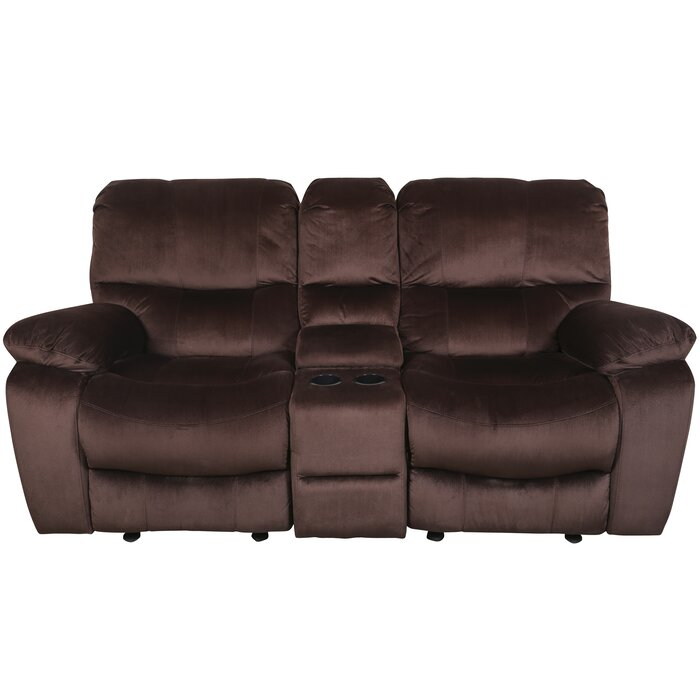 Awesome Rashida Modern Reclining Loveseat Pabps2019 Chair Design Images Pabps2019Com