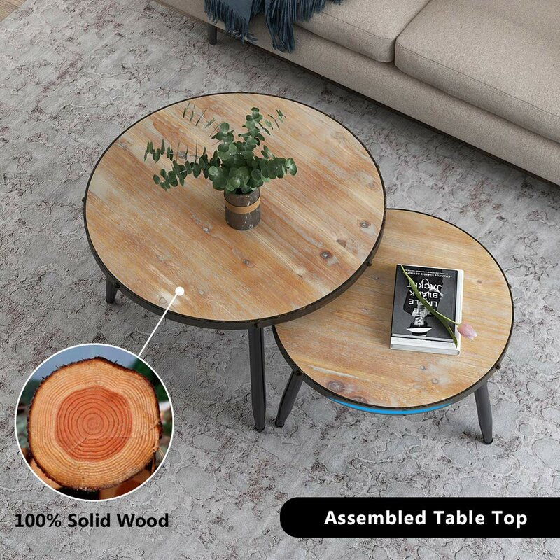 Williston Forge Burruss Nesting 2 Piece Coffee Table Set Reviews