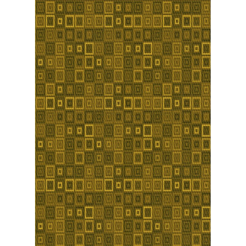 East Urban Home Geometric Wool Yellow Area Rug Wayfair