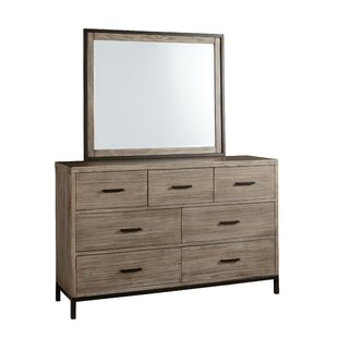 Lipsey 7 Drawer Double Dresser with Mirror
