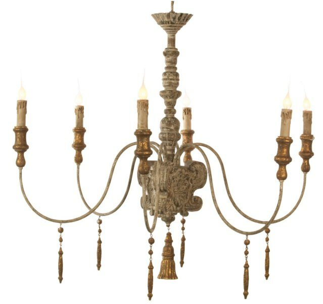 Italian 6 - Light Candle Style Classic / Traditional Chandelier