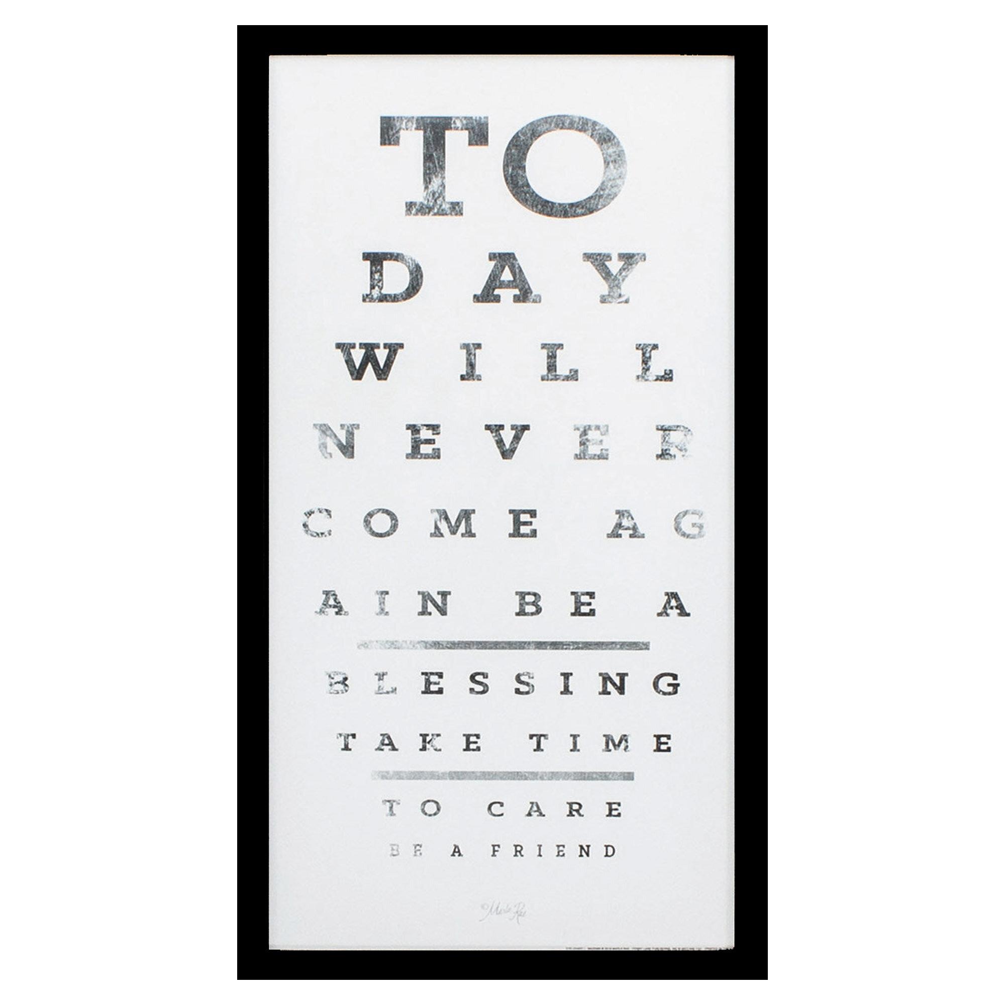 Latitude Run Silver Frame Eye Chart I Picture Frame Painting Print Wayfair
