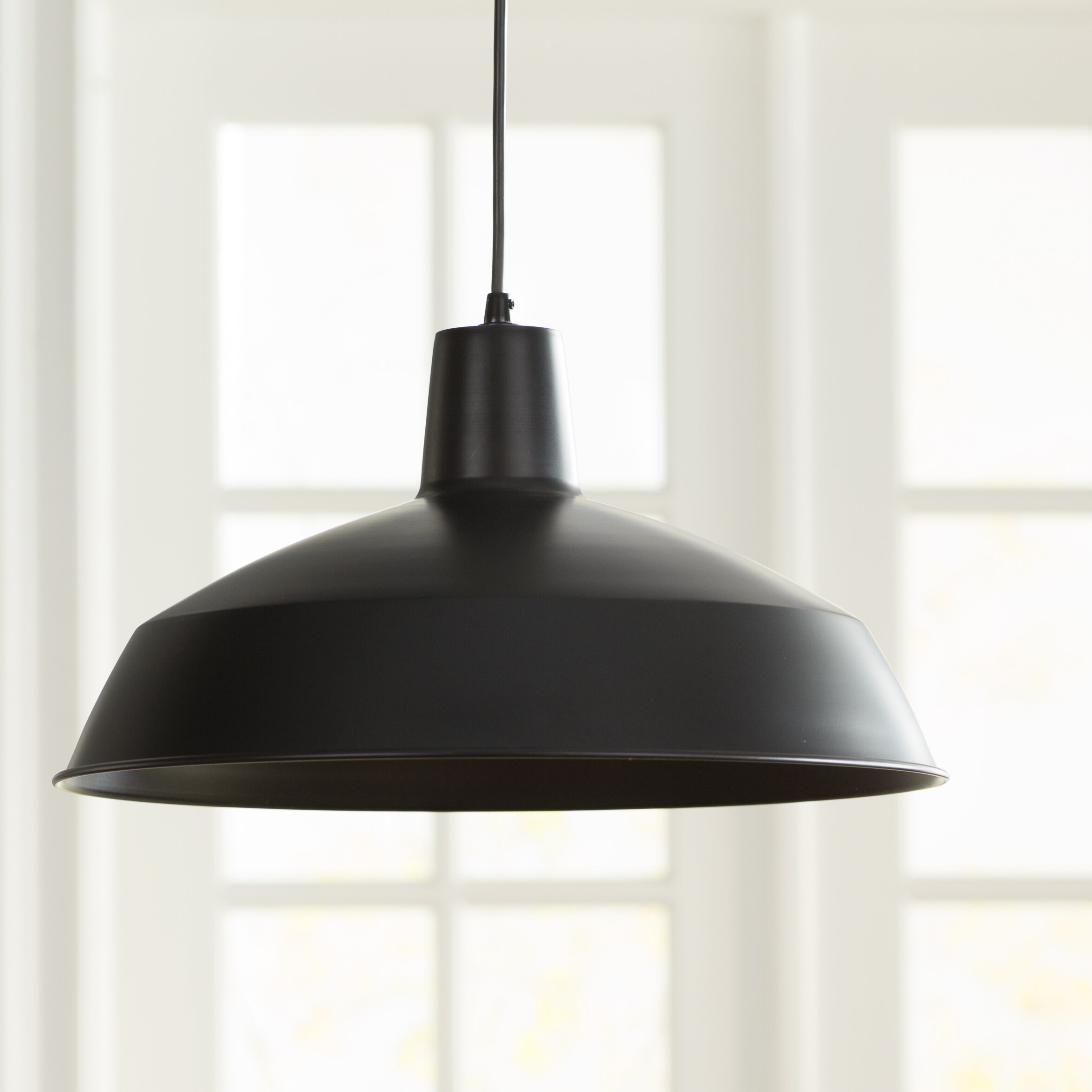 Laurel Foundry Modern Farmhouse Cornelia Industrial Warehouse 1 Light Bowl Pendant