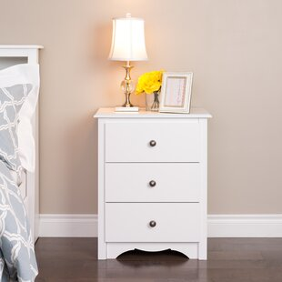 Hayman Tall 3 Drawer Nightstand by Andover Mills