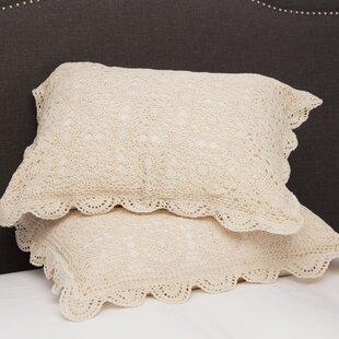 Handmade Crochet Cotton Standard Sham (Set of 2)