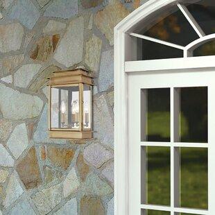 Farmingdale 2 Light Solid Brass Outdoor Flush Mount