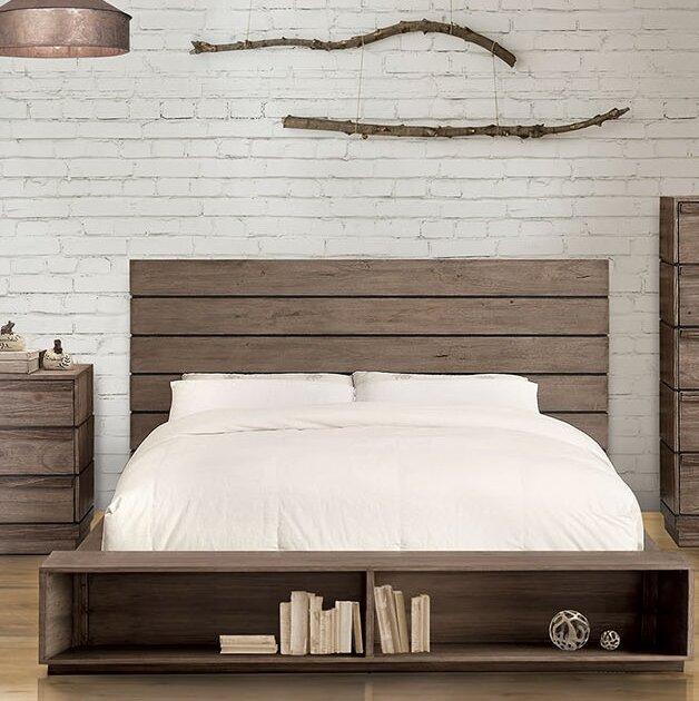 Low platform beds with storage Unfinished Storage Wayfair Union Rustic Pisani Storage Platform Bed Wayfair