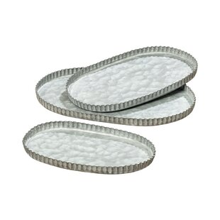 Arning Pastry Crust Oval 3 Piece Serving Tray Set