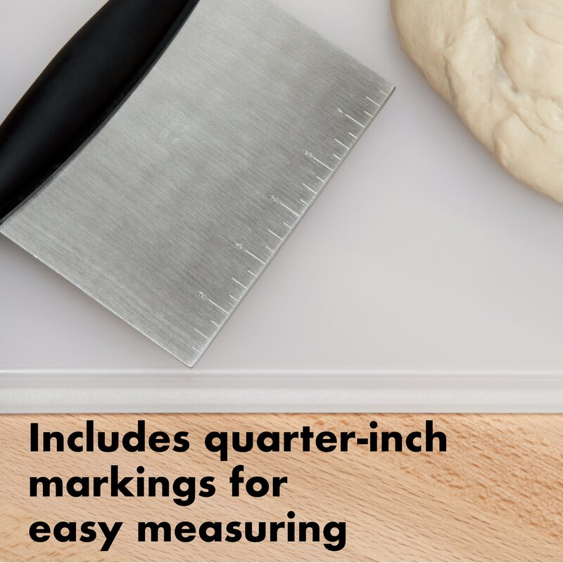OXO Good Grips Multi-purpose Stainless Steel Scraper /& Chopper OXO Cook/'s Tools 73281 CA-73281