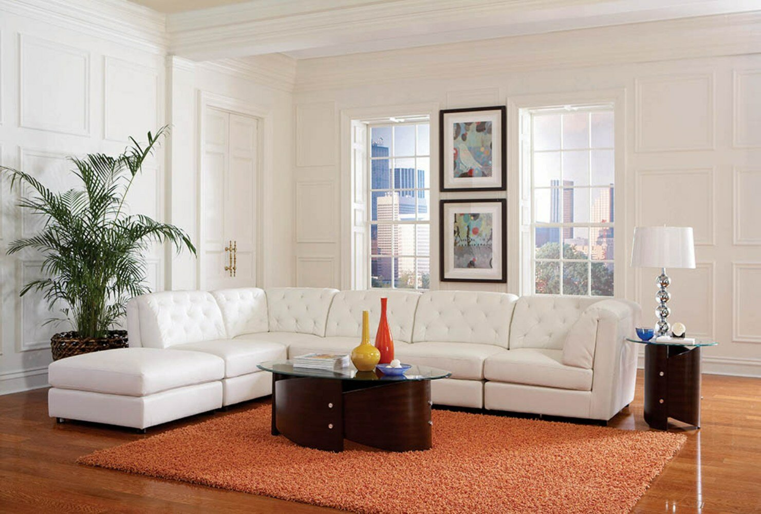 Incredible Hennie Tufted 6 Piece Reversible Modular Sectional With Ottoman Machost Co Dining Chair Design Ideas Machostcouk