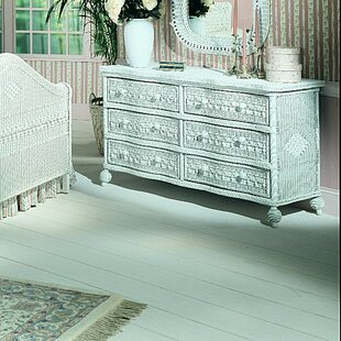 Stonge Classic 6 Drawer Double Dresser with Mirror