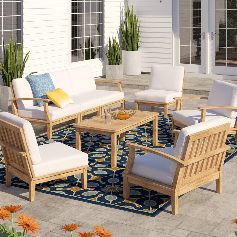 Midway 8 Piece Teak Sectional Seating