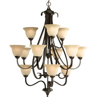 Reviews Lilly 12-Light Shaded Chandelier By Fleur De Lis Living
