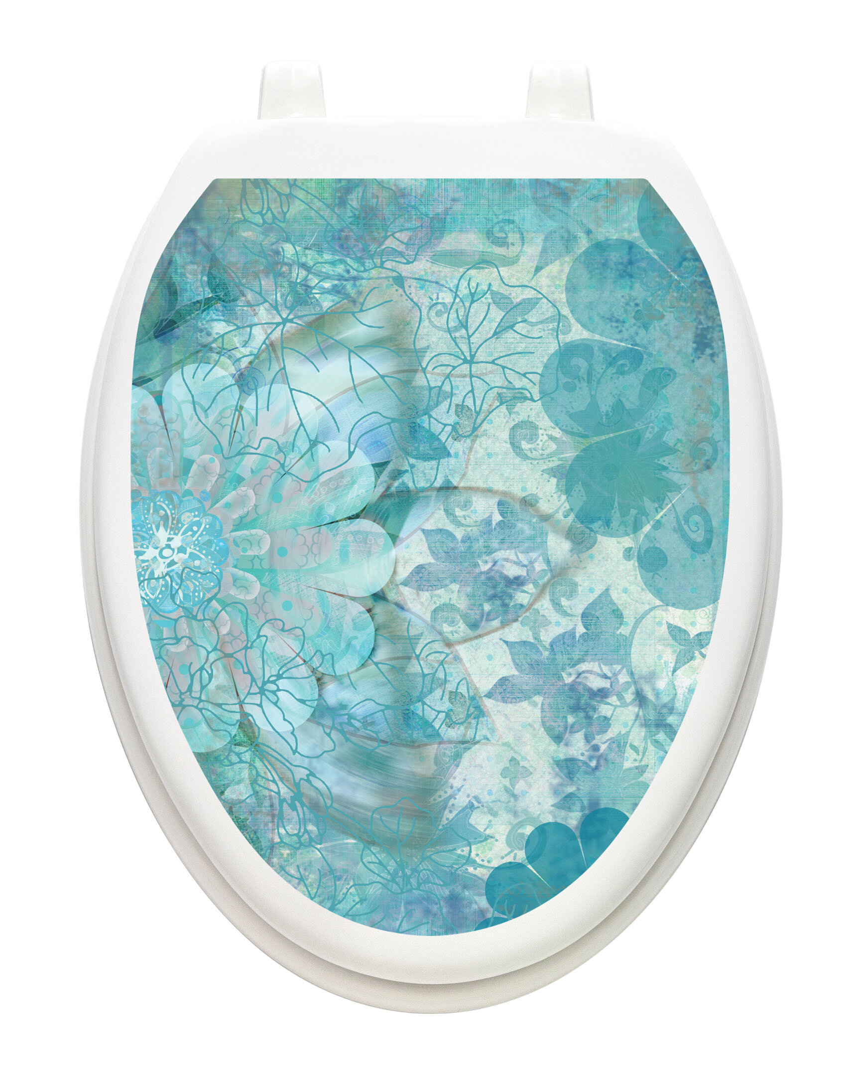 Admirable Floral Haze Toilet Seat Decal Creativecarmelina Interior Chair Design Creativecarmelinacom