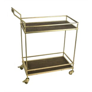 Destiny Glistening 2 Tiered Bar Cart by House of Hampton