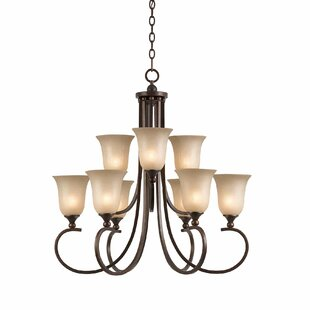 Alcott Hill Xzavier 9-Light Shaded Chandelier