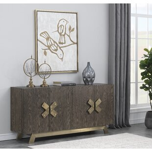 Rockport 4 Door Media Credenza by Everly Quinn