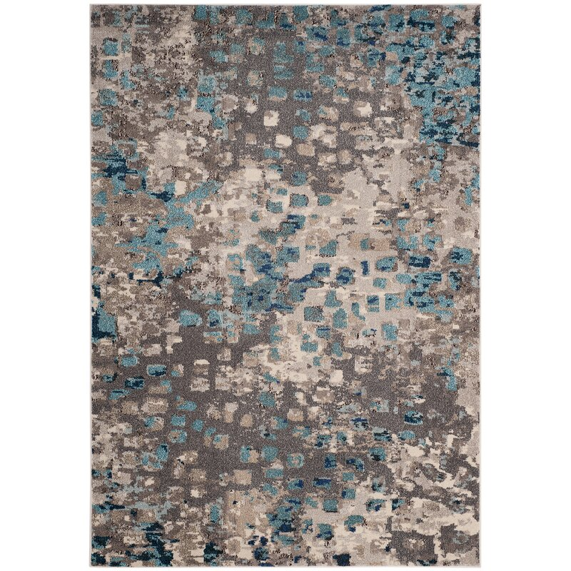 Mistana Indira Gray Amp Light Blue Area Rug Amp Reviews Wayfair