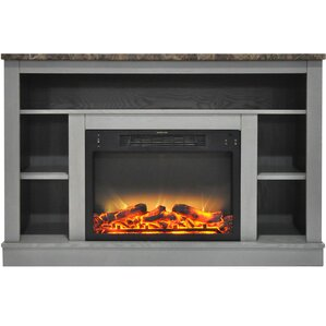 eudora modern electric fireplace tv stand