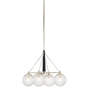 Ivy Bronx Ironwood 4-Light Shaded Chandelier