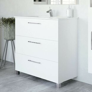 Lorcan 813mm Free-Standing Single Vanity Unit By Wade Logan
