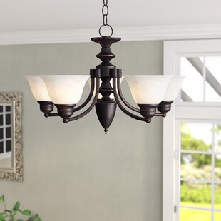 Compare prices Barrett 5-Light Chandelier By Andover Mills