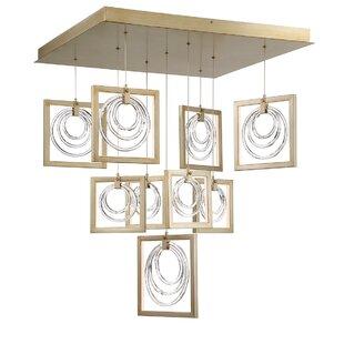 Luman Glass Rings 9-Light ..