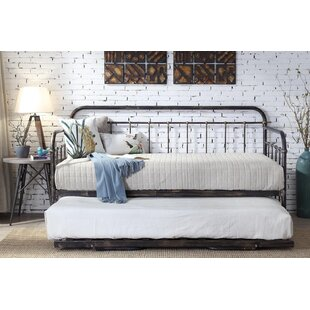 Mitre Hospital Style Metal Daybed With Trundle And Mattress By Williston Forge