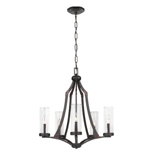 Three Posts Renfroe 5-Light Shaded Chandelier