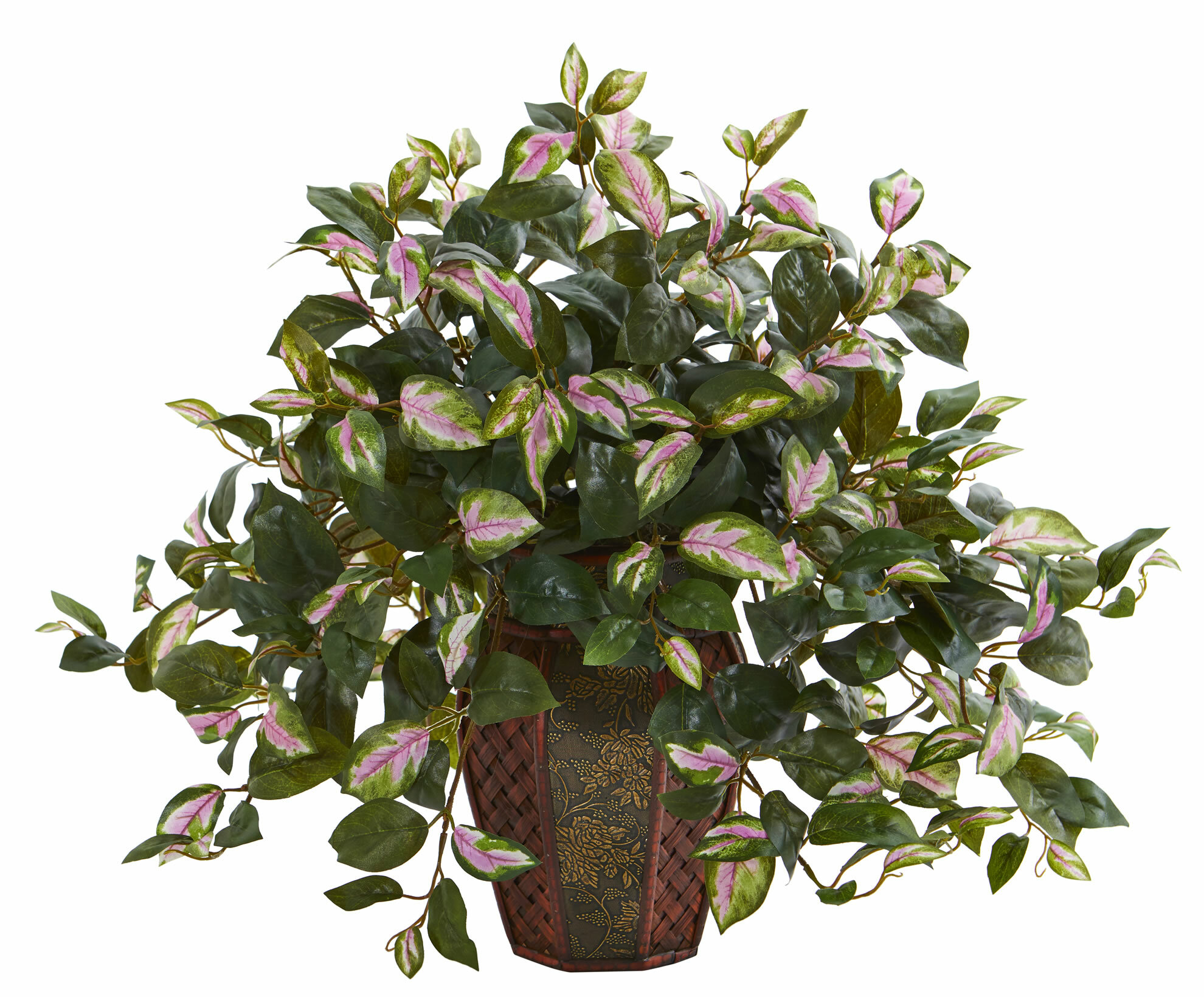 Charlton Home Artificial Hoya Plant Floral Arrangement In Planter