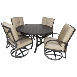 Red Barrel Studio Gadd 5 Piece Dining Set with Cushions