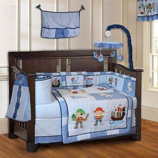 Skiles Pirates Baby 10 Piece Crib Bedding Set