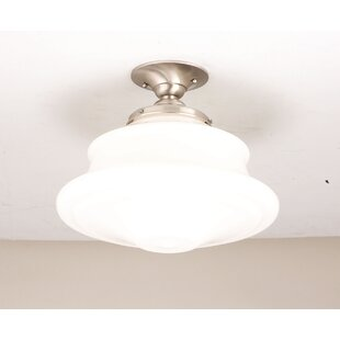 Miranda 1-Light Semi-Flush Mount by Gracie Oaks