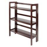 Aniyiah 38.54 H x 27.8 W Solid Wood Etagere Bookcase by Ebern Designs
