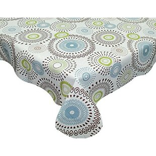Itchington Contemporary Whimsy Vinyl Flannel Backed Tablecloth