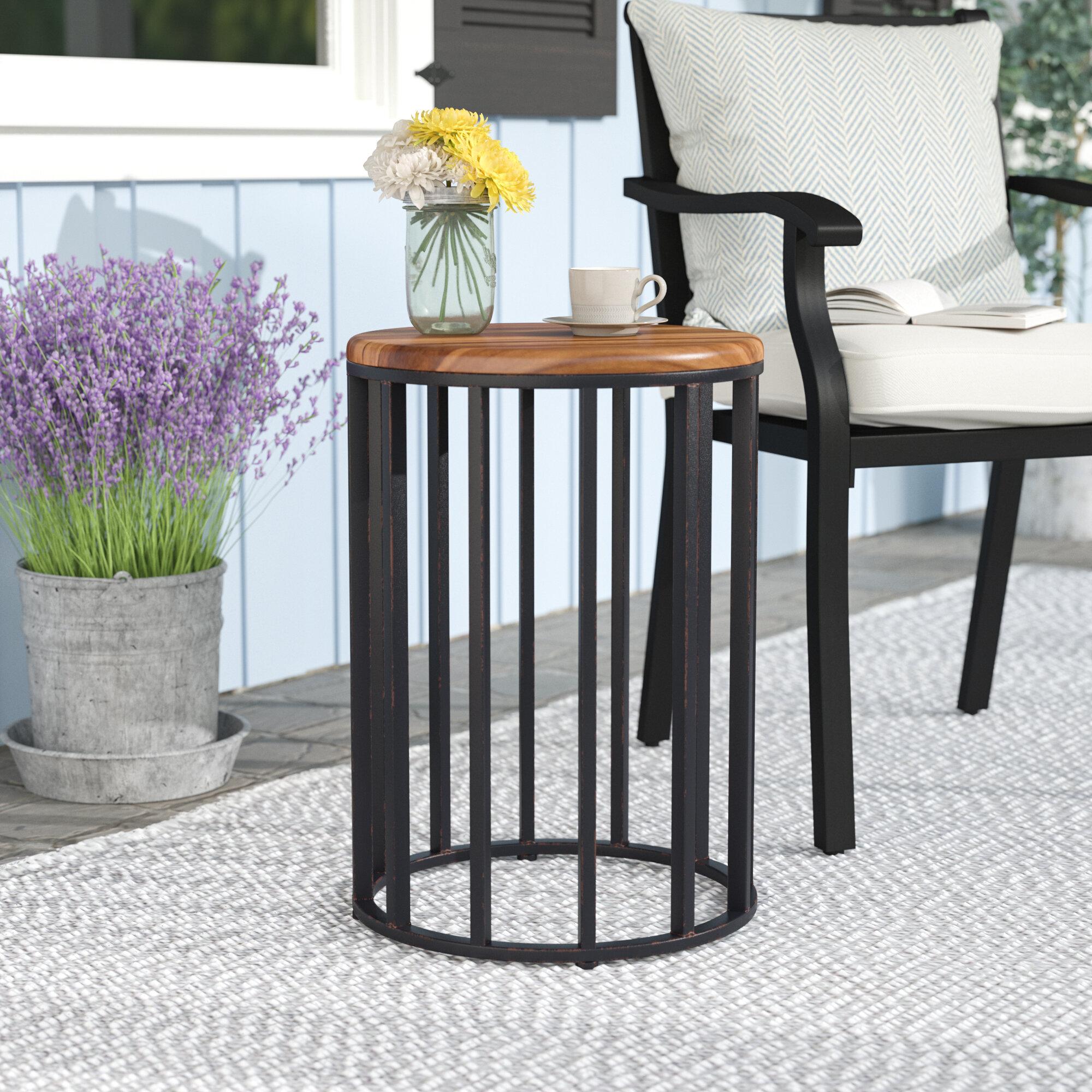 wayfair home table side kastner metal pdx charlton outdoor reviews