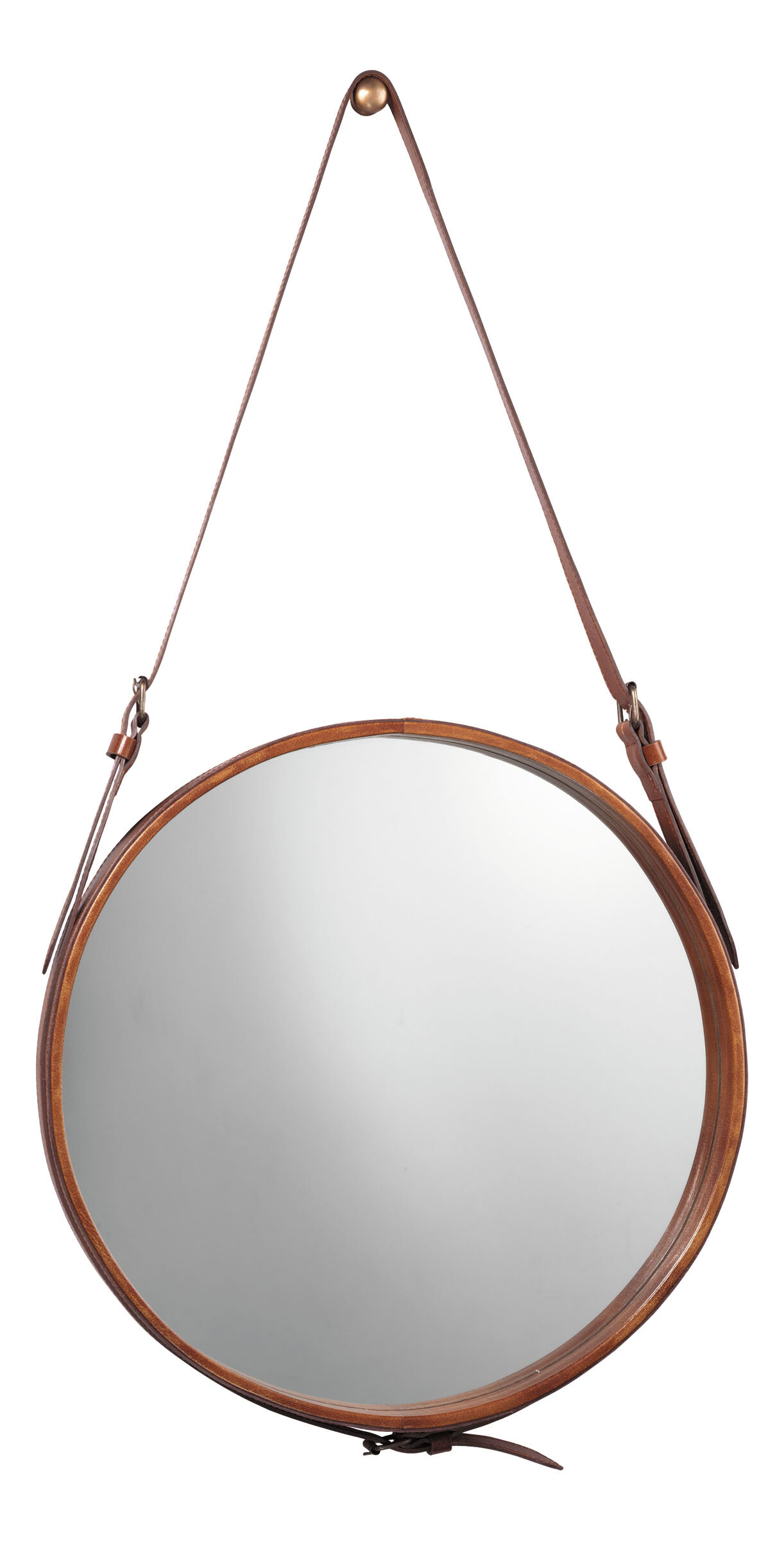 b645895c25d4 Langley Street Bombay Distressed Vertical Round Wall Mirror   Reviews