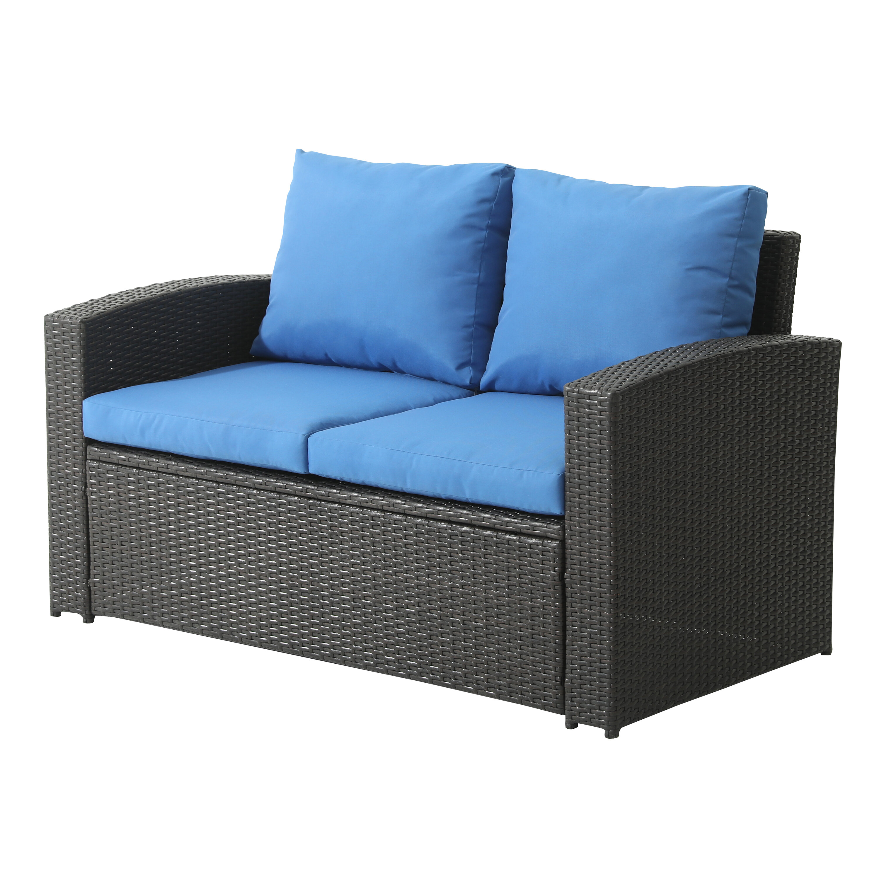 Latitude Run Aniso Outdoor Loveseat With Cushions Reviews Wayfair