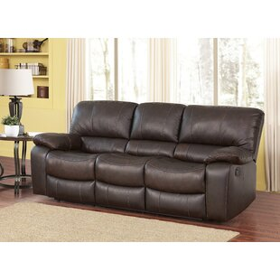 Husebye Leather Reclining Sofa