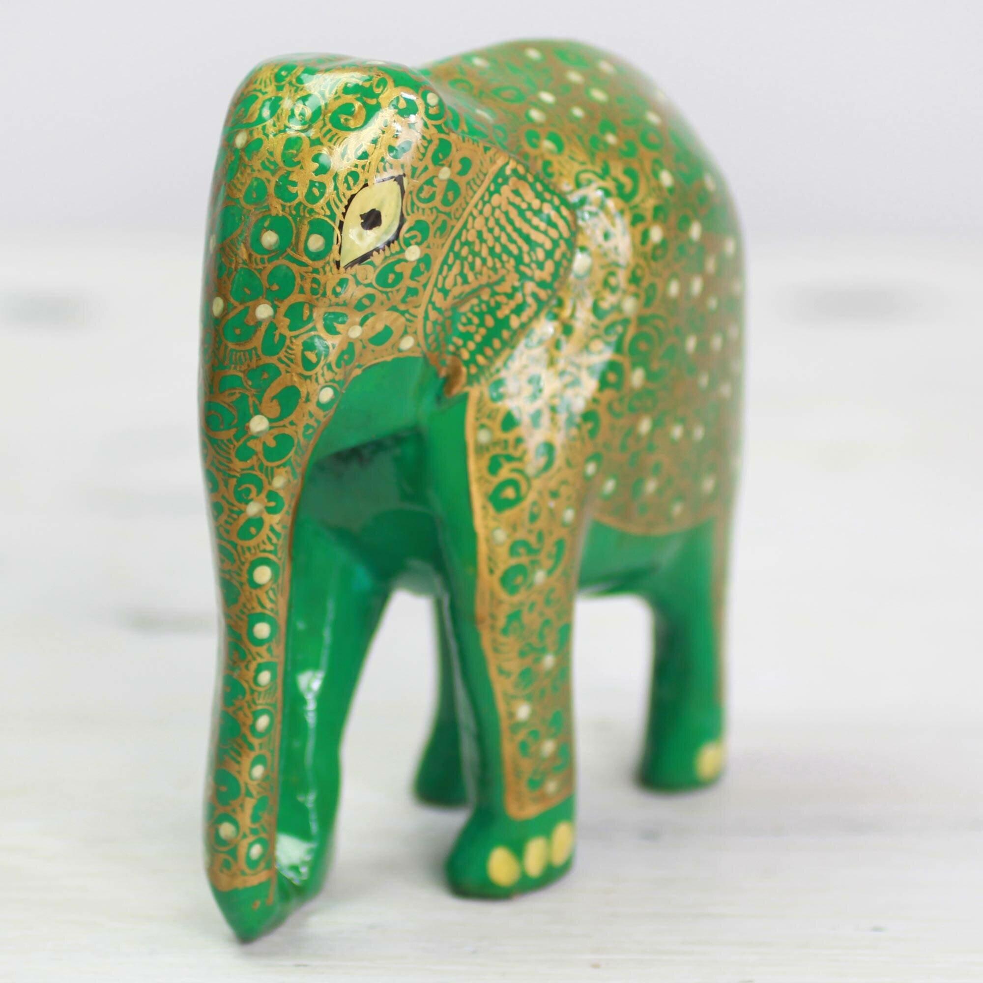World Menagerie Grandfield Wise Elephant Wood And Papier Mache Figurine Wayfair