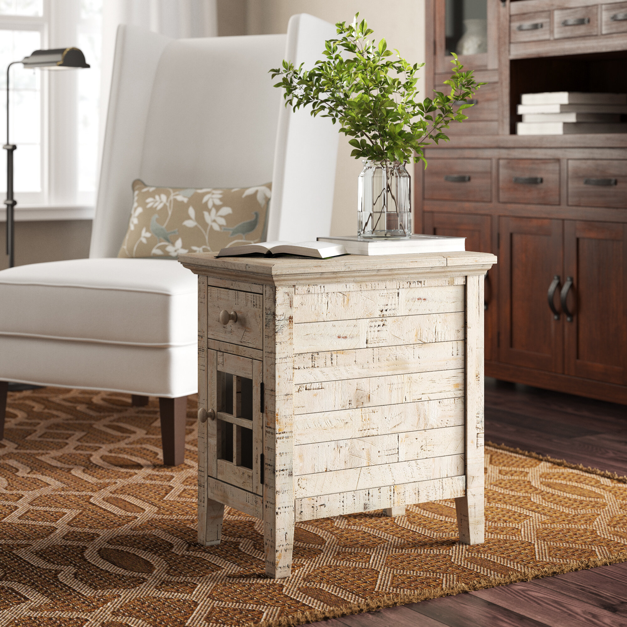 Zachary End Table With Storage Reviews Birch Lane