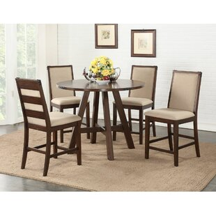 Chandeleur 5 Piece Counter Height Dining Set by DarHome Co 2019 Sale